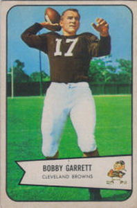 Bobby Garrett Rookie 1954 Bowman #16 football card