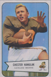 Chet Hanulak Rookie 1954 Bowman #90 football card