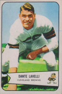 Dante Lavelli 1954 Bowman #111 football card