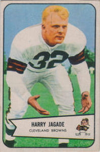 Harry Jagade Rookie 1954 Bowman #99 football card