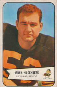 Jerry Hilgenberg Rookie 1954 Bowman #95 football card