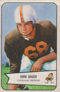 John Bauer Rookie 1954 Bowman #84 football card