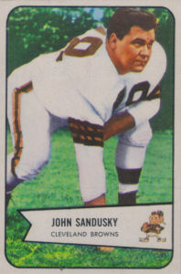 John Sandusky 1954 Bowman #28 football card