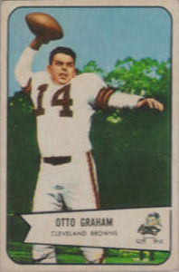 Otto Graham 1954 Bowman #40 football card
