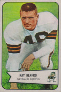 Ray Renfro 1954 Bowman #64 football card