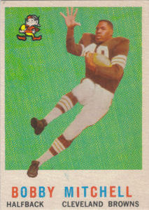 Bobby Mitchell Rookie 1959 Topps #140 football card