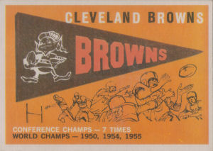 Browns Pennant 1959 Topps #38 football card