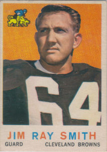 Jim Ray Smith Rookie 1959 Topps #101 football card