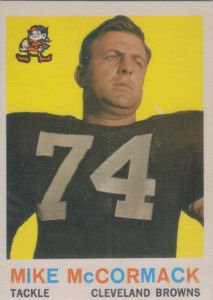 Mike McCormack 1959 Topps #74 football card