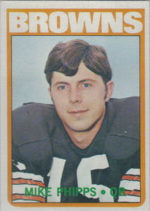 Mike Phipps 1972 Topps #96 football card