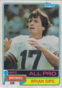 Brian Sipe 1981 Topps #350 football card