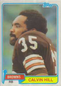 Calvin Hill 1981 Topps #398 football card