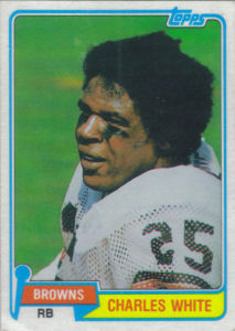 Charles White Rookie 1981 Topps #69 football card