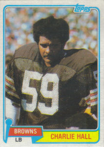 Charlie Hall 1981 Topps #89 football card