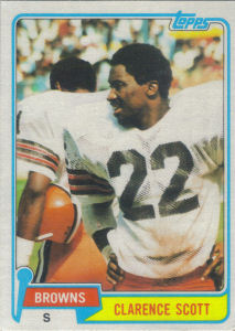 Clarence Scott 1981 Topps #29 football card