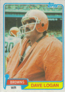 Dave Logan 1981 Topps #325 football card