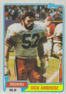 Dick Ambrose 1981 Topps #298 football card