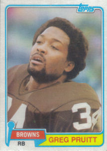 Greg Pruitt 1981 Topps #415 football card