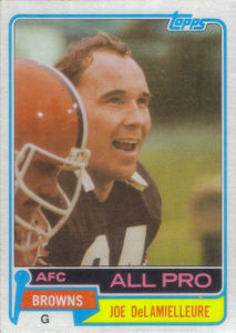 Joe DeLamielleure 1981 Topps #170 football card