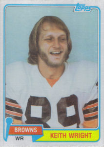 Keith Wright Rookie 1981 Topps #478 football card