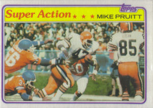 Mike Pruitt Super Action 1981 Topps #441 football card