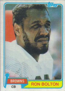 Ron Bolton 1981 Topps #221 football card