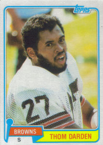 Thom Darden 1981 Topps #241 football card