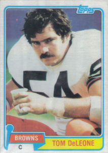 Tom DeLeone 1981 Topps #279 football card