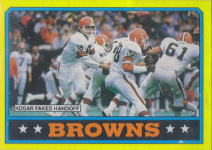 Browns Team Leaders 1986 Topps football card