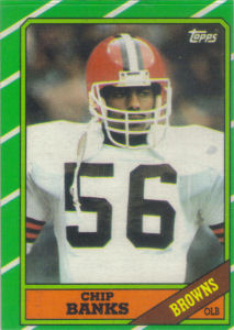 Chip Banks 1986 Topps #196 football card