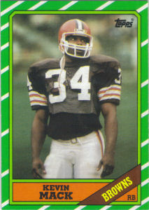 Kevin Mack Rookie 1986 Topps #188 football card