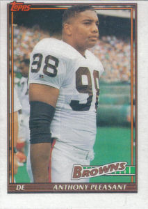 Anthony Pleasant 1991 Topps #597 football card