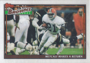 Browns Team Leaders 1991 Topps football card