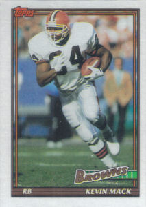 Kevin Mack 1991 Topps #607 football card