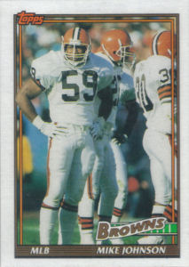 Mike Johnson 1991 Topps #592 football card