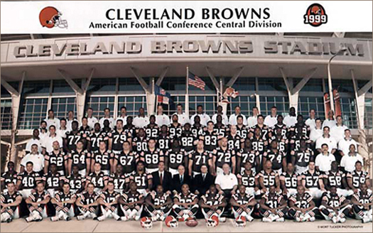 1999 Cleveland Browns Team Photo