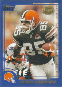 Kevin Johnson 2000 Topps #136 football card