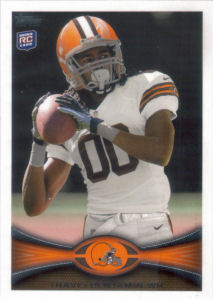 Travis Benjamin Rookie 2012 Topps #104 football card