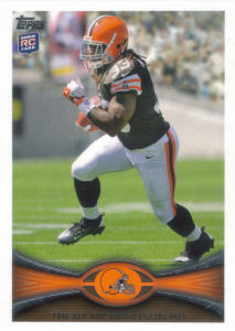 Trent Richardson Rookie 2012 Topps #380A football card