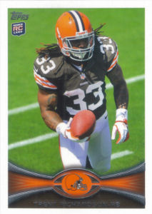 Trent Richardson Rookie SP 2012 Topps #380B football card